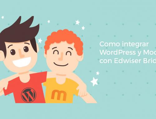 Una sus sitios de WordPress y Moodle, usando el plugin de Edwiser Bridge