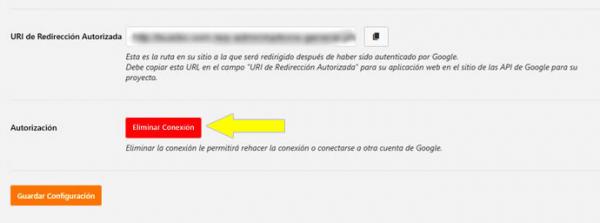 Eliminar la conexión en WP Mail SMTP